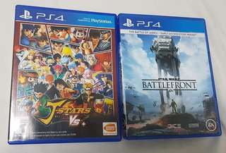 Ps4 J-star victory Vs and star wars battlefront