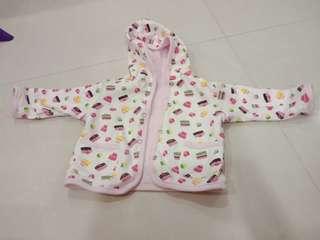 Baby girl sweater reversable