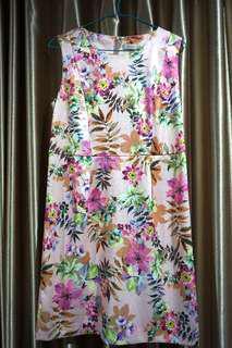 Flower Mini Dress Pink