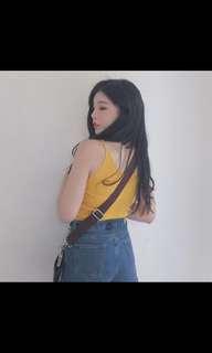 🚚 細肩薑黃色背心