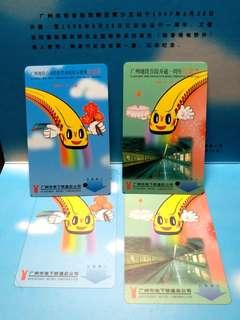1998年廣州地鐵首段開通一周年紀念票