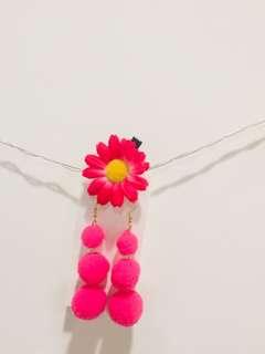 🚚 粉紅滾球耳環❤️❤️❤️