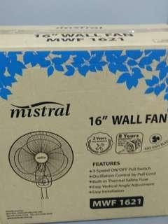 Wall Fan, LED Light Tube with Reflector, Socket