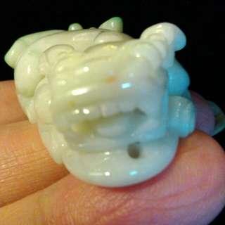 大嘴巴咬錢綠{祿}屁股的大貔貅出現了。緬甸A白底青。完整無摳