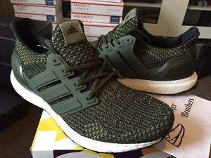 Adidas Ultra Boost Olive Green, Men's