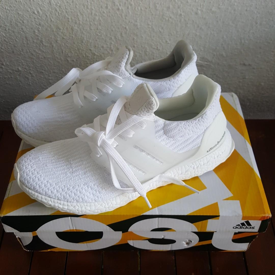 online store 13479 6e8e1 Adidas Ultra Boost Triple White, Men s Fashion, Footwear, Sneakers ...