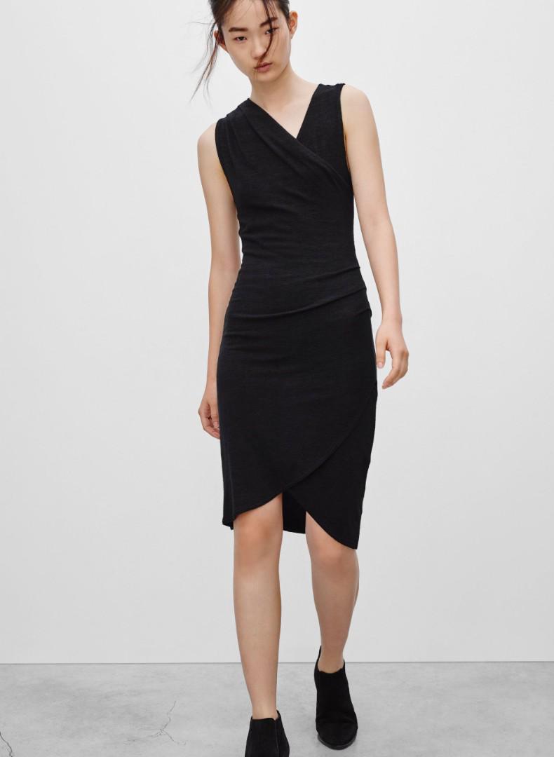 Aritzia Wilfred Free izidora dress XS in black