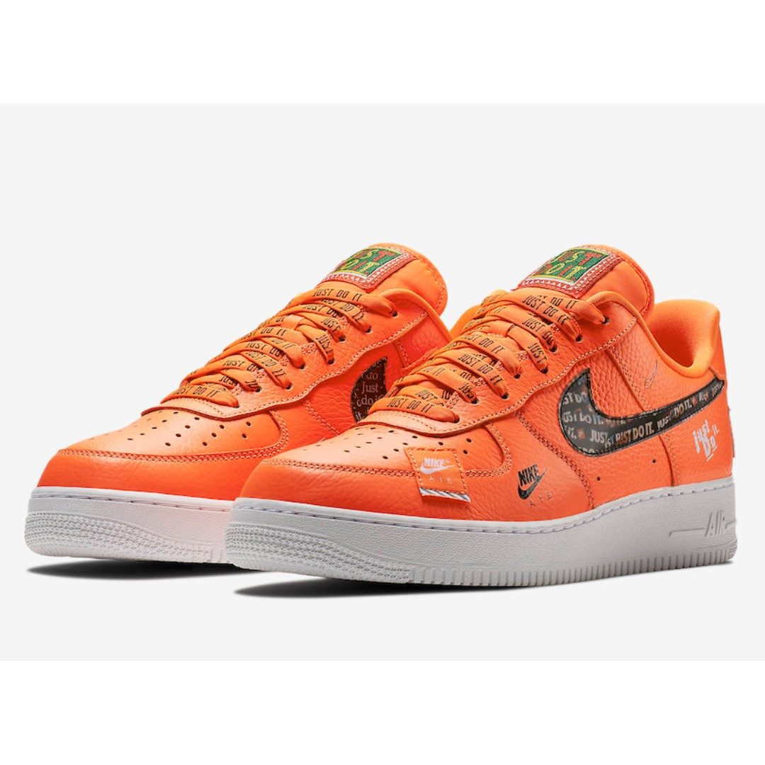 e4455301270ba8 Authentic Nike Air Force 1 07 Just Do It Pack Orange