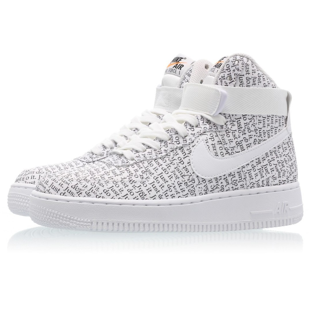 f1ee3f565b3 Authentic Nike Air Force 1 High LX Just Do It Pack White