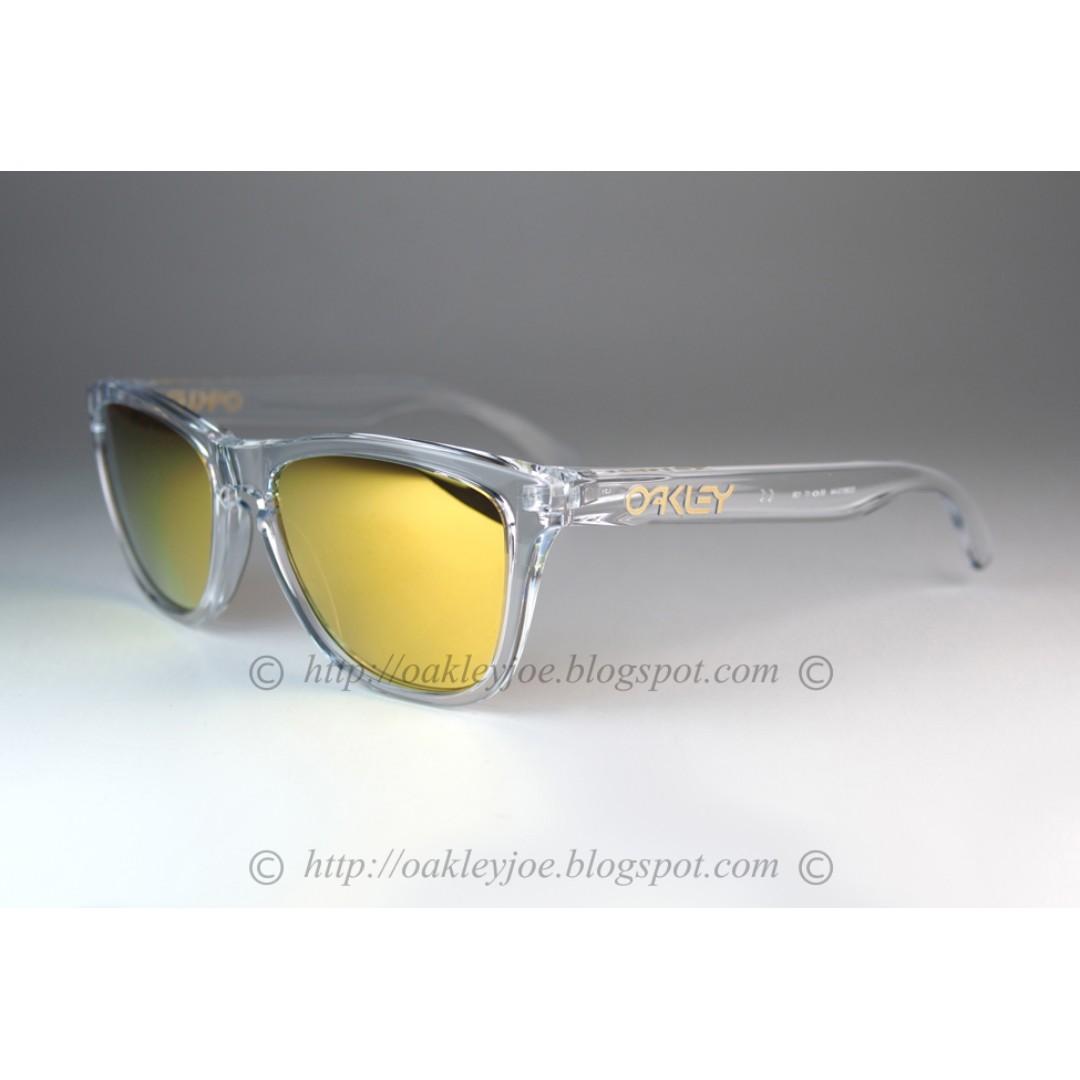 3d10973905 BNIB Oakley Frogskins crystal clear + 24k iridium OO9013-A4 sunglass ...