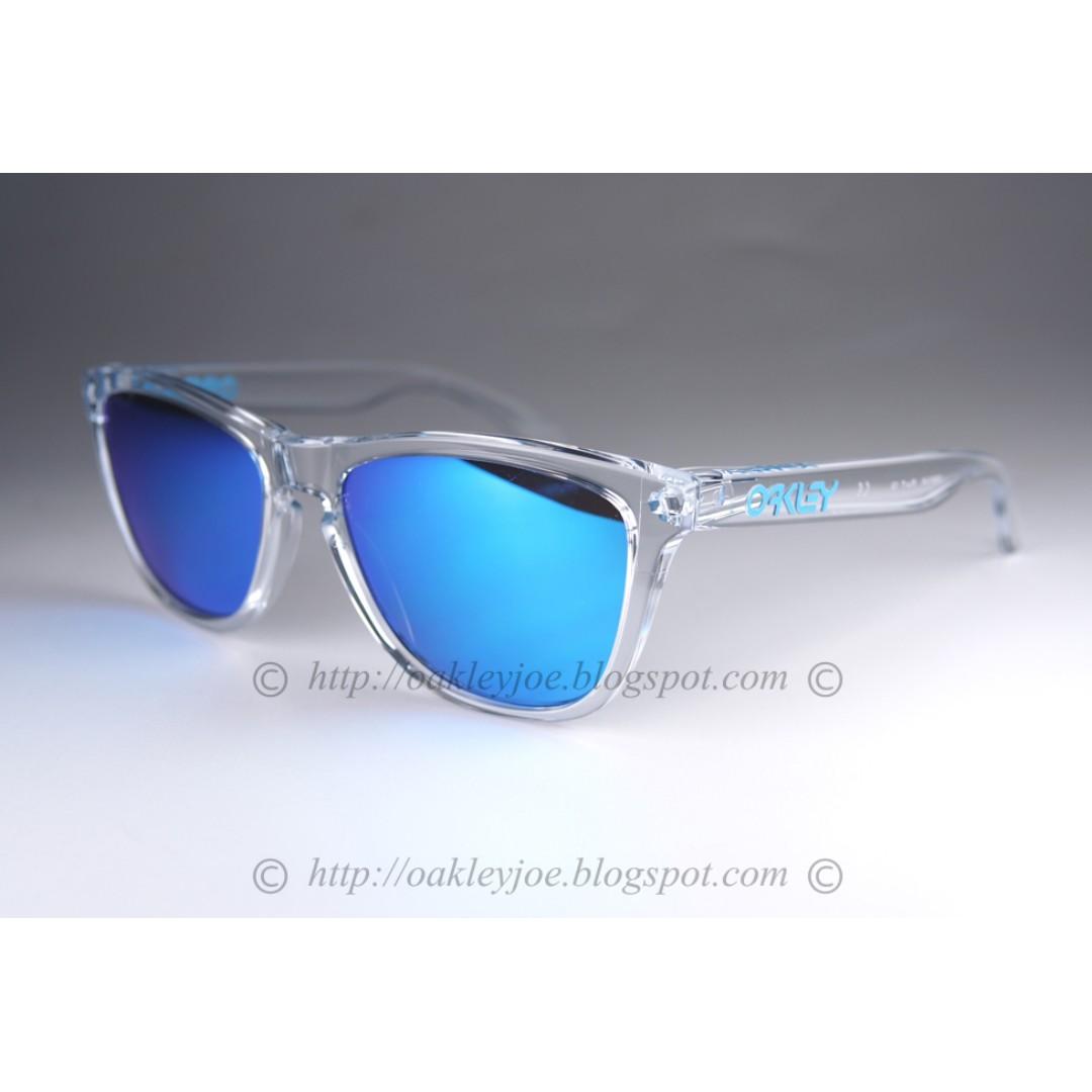 4d2629d639 BNIB Oakley Frogskins crystal clear + sapphire iridium oo9013-A6 ...