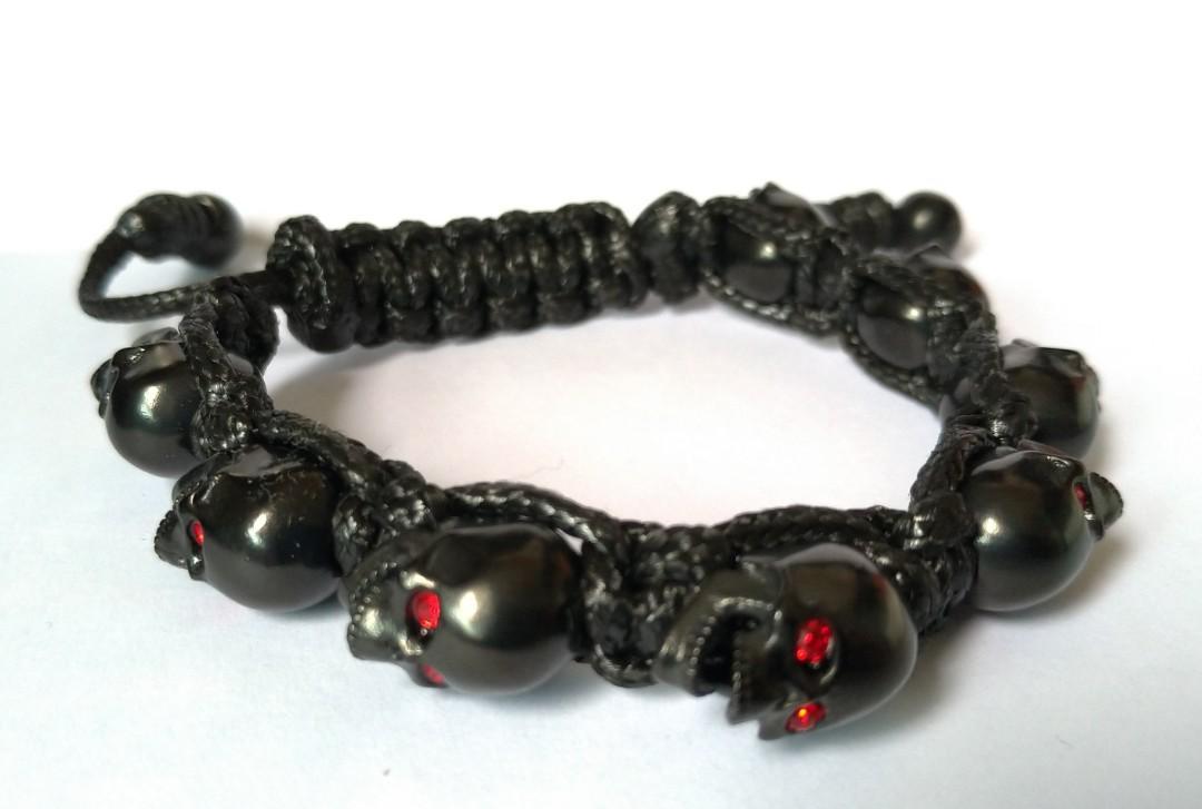 bomberg skull bracelet swarovski