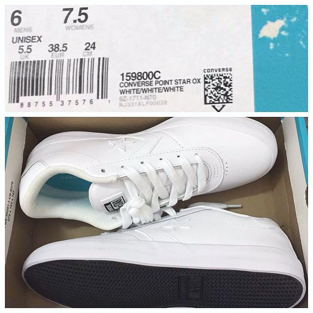 e2e019cd85ba35 BRAND NEW  Converse Point Star Ox Sneakers - White   White