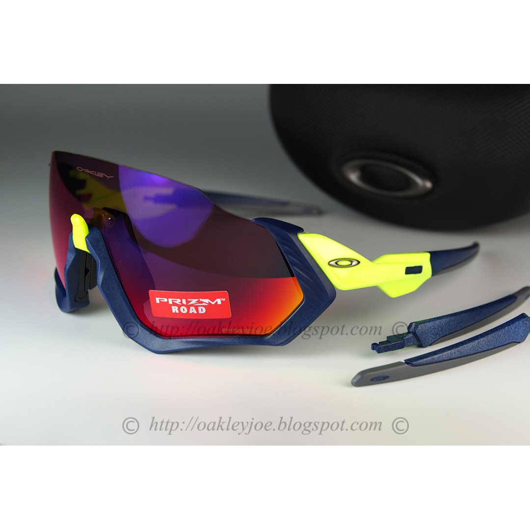 eb4ca0744c Brand New Oakley Flight Jacket matte navy + prizm road OO9401-0537 ...