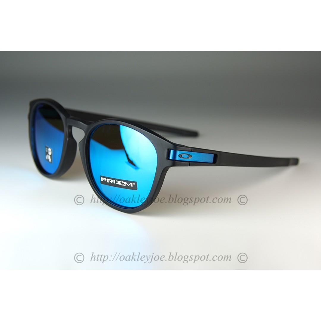 e6e7c73f8cd BNIB Oakley Latch matte black + prizm sapphire OO9265-3053 sunglass ...