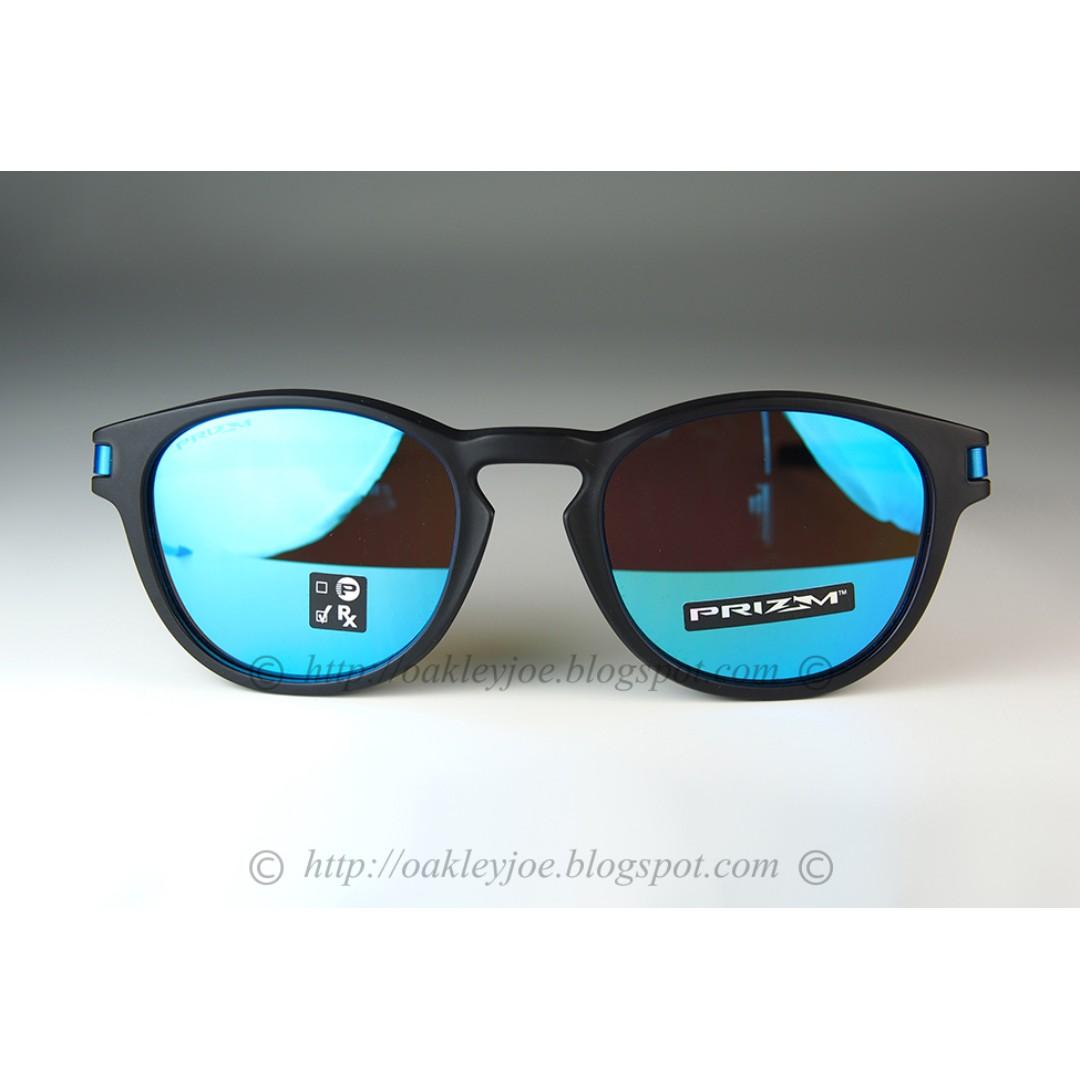 21f9cf030f BNIB Oakley Latch matte black + prizm sapphire OO9265-3053 sunglass shades