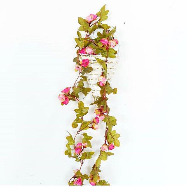 Bunga rantai juntai palsu fake imitasi pagar daun hias plastik flower  dekorasi artificial murah cantik perlengkapan pesta rumah taman home  decoration shop ... 163e1ed3ec
