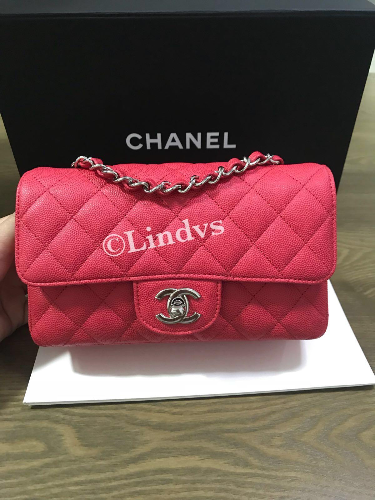 02faf66a8eff Chanel mini rectangular 18C (Authentic), Barangan Mewah, Beg dan ...