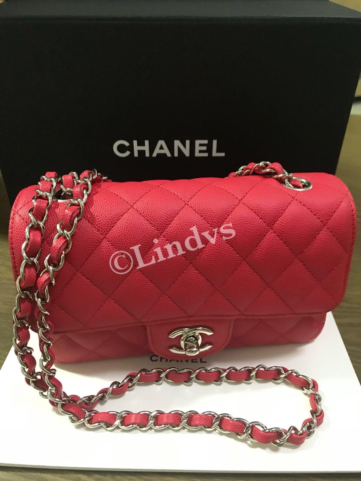 0f43a6456f3f Chanel mini rectangular 18C (Authentic), Barangan Mewah, Beg dan Dompet di  Carousell