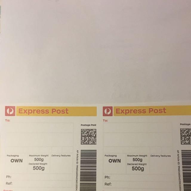Express Postage Labels Bulk Order Only
