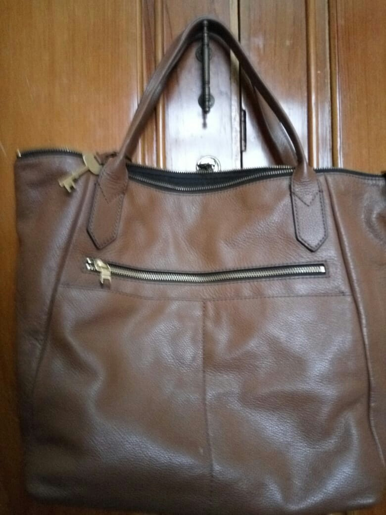 62501846d Fossil preloved fiona tote brown, Women's Fashion, Women's Bags ...
