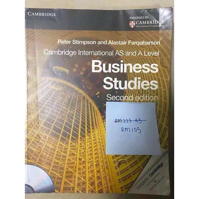[GCE A Level] Business/Business Studies (AS & A2 Level) (PLEASE READ DESCRIPTION FOR FURTHER DETAILS)