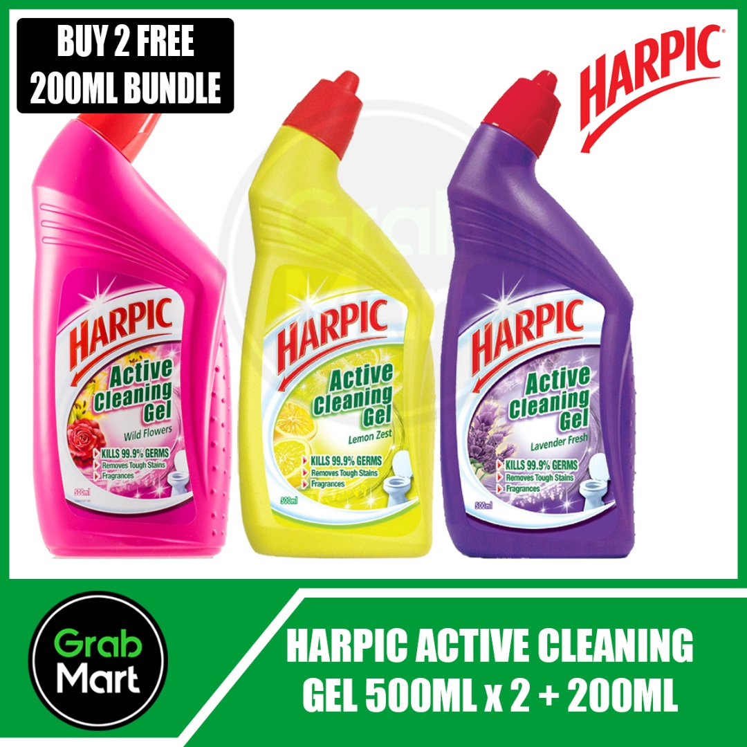 Harpic Active Cleaning Gel 500ml X 2 200ml Health Beauty Bath