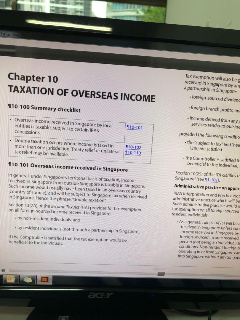 Acca F6 Malaysian Tax Study Text Ebook
