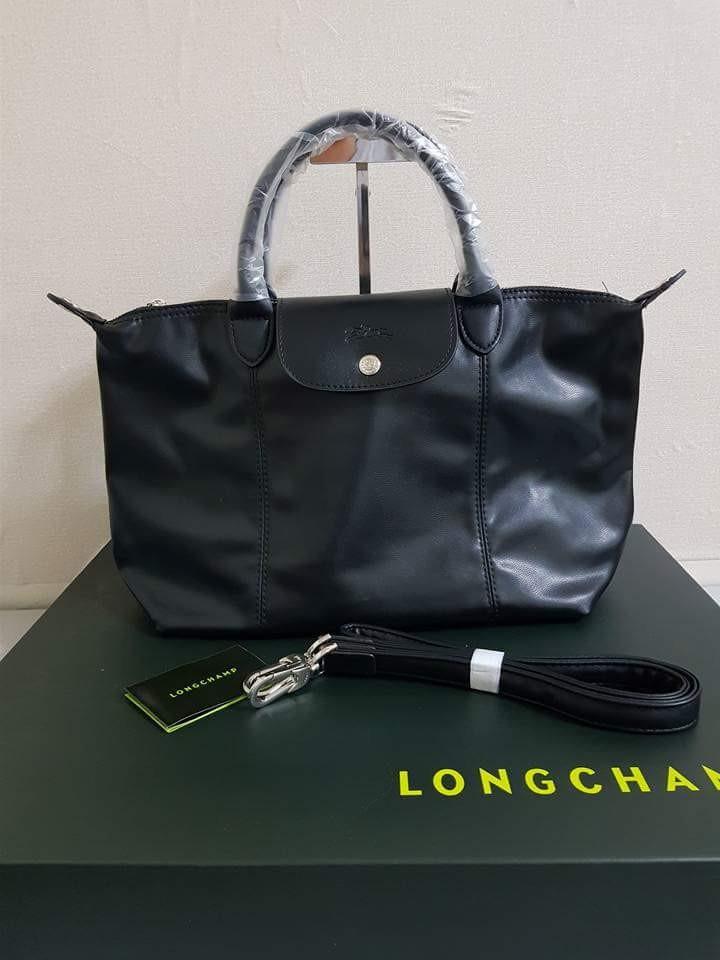b26fc7d80f Longchamp Le Pliage Cuir, Women's Fashion, Bags & Wallets, Handbags ...