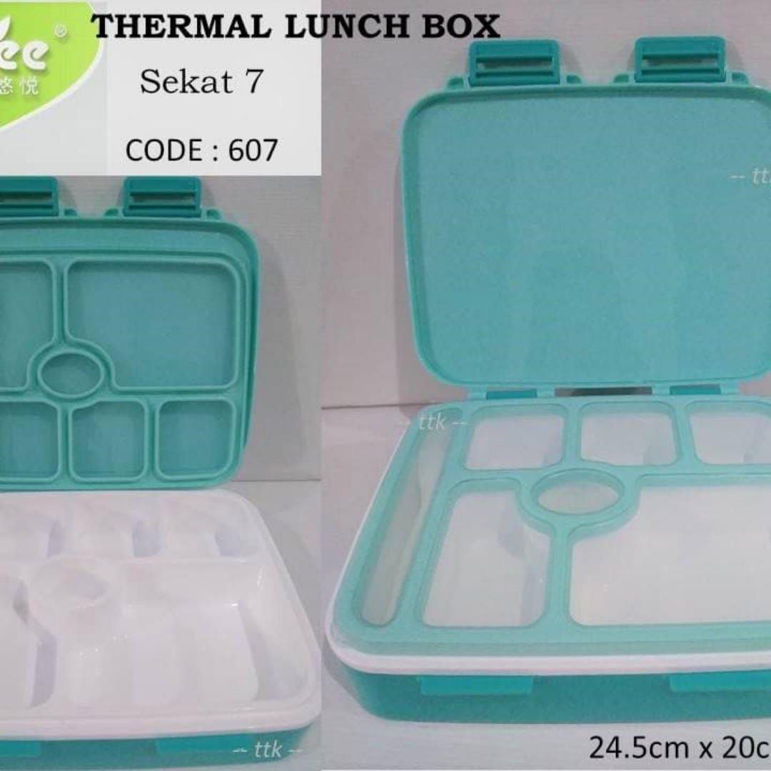 Lunch Box Grid Yooyee 607 Sekat 7 Kotak Bekal Tempat Makan Everything Else Others On Carousell