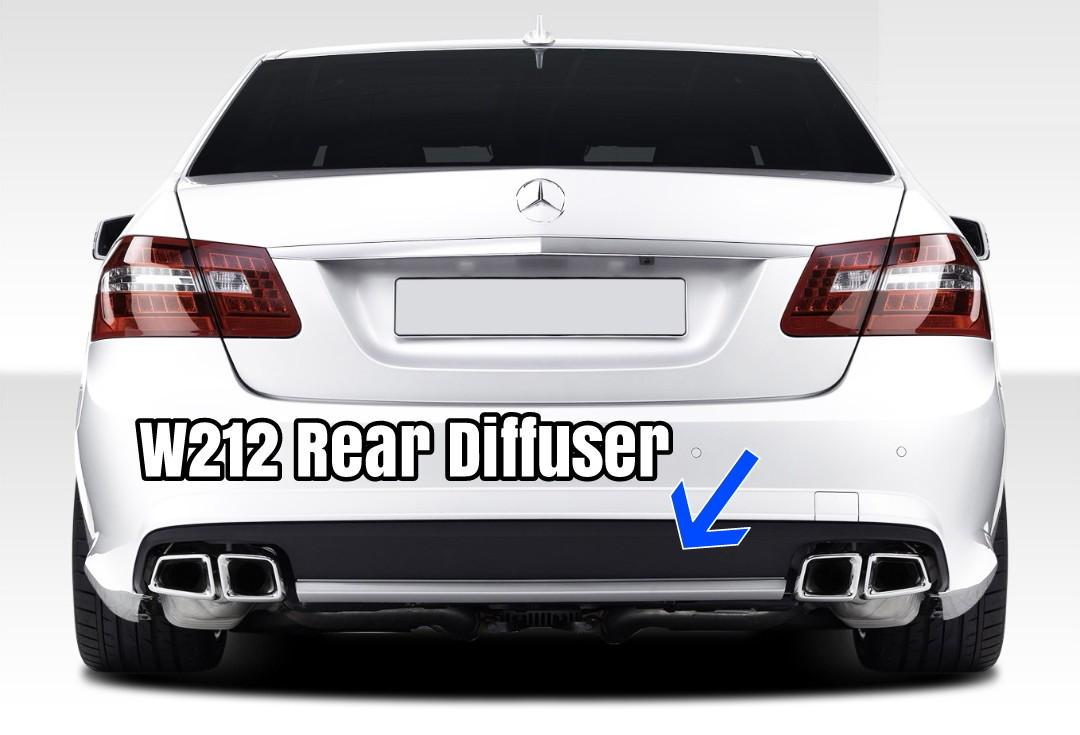 Mercedes Benz W212 E63 Rear Diffuser E CLASS, Car