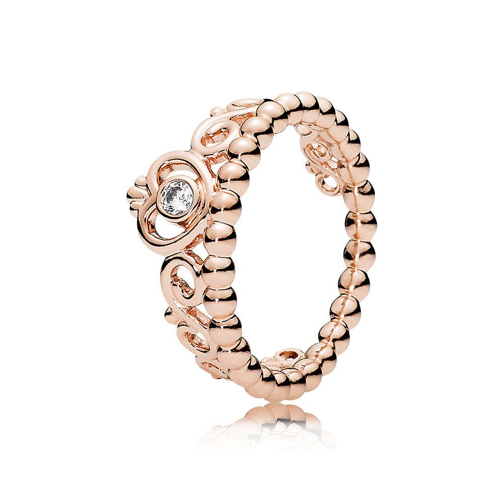 Fine Jewellery Genuine Pandora Princess Tiara Rose Gold Ring Size 56-100% Genuine Bnib Jewellery & Watches