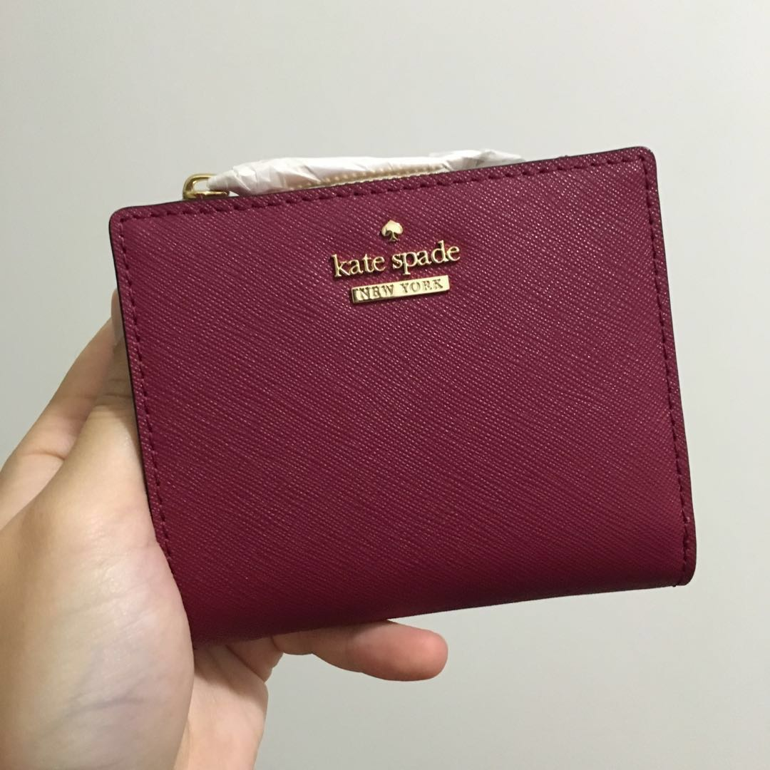 9bbd67bc352c0 SALE Kate Spade Cameron Street Adalyn Small Wallet Tempranillo Red ...