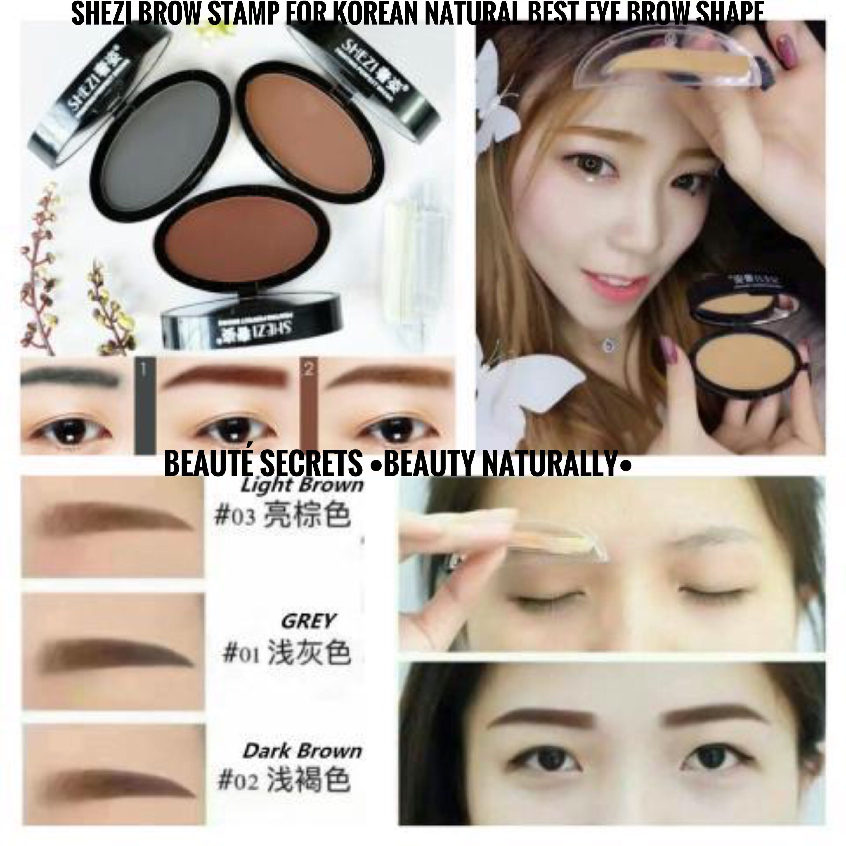Shezi Brow Stamp For Korean Natural Best Eyebrow Shape Health Beauty Makeup On Carousell