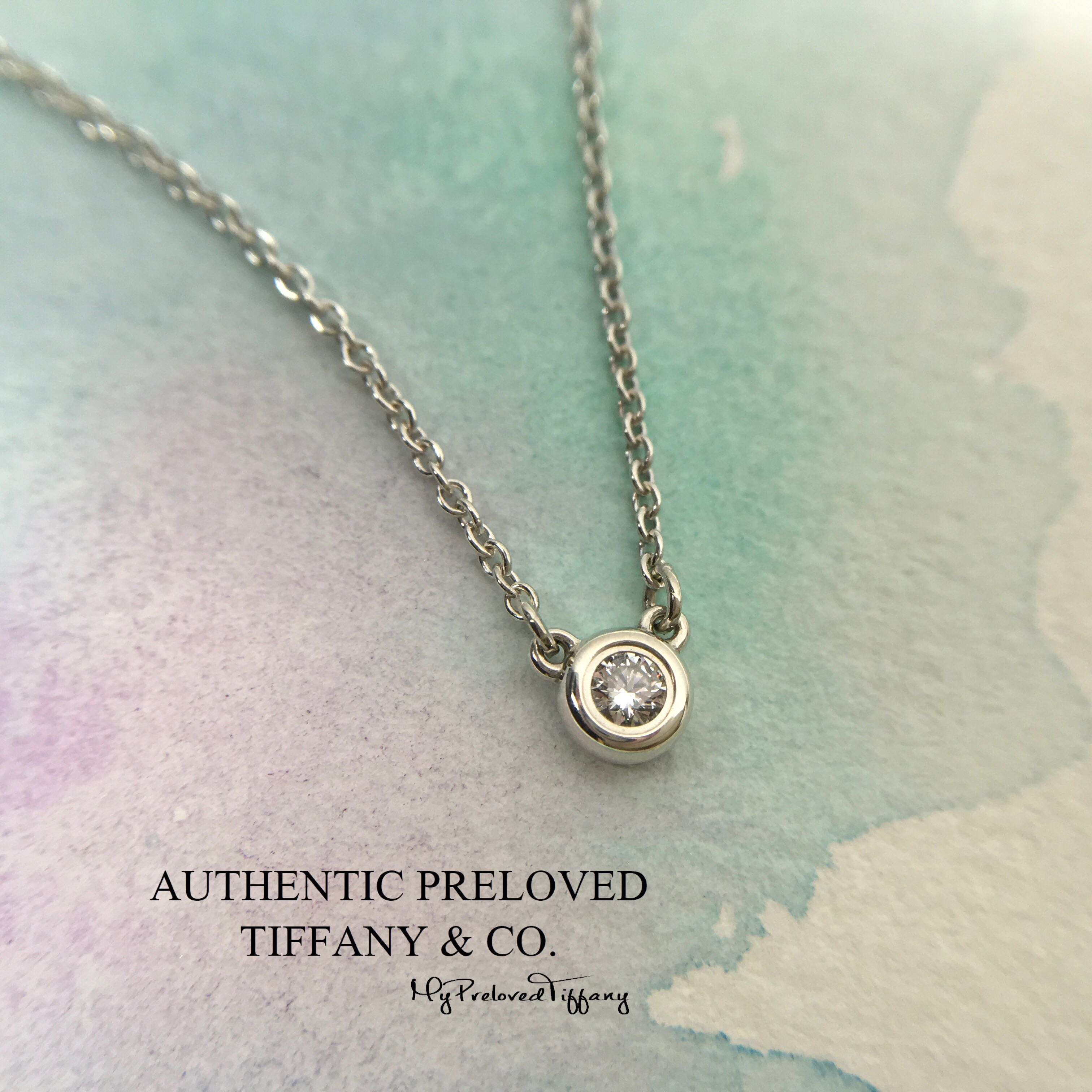 0d08a9454 Tiffany & Co. Elsa Peretti By The Yard Necklace Diamond 0.05 Carat Silver,  Women's Fashion, Jewellery on Carousell