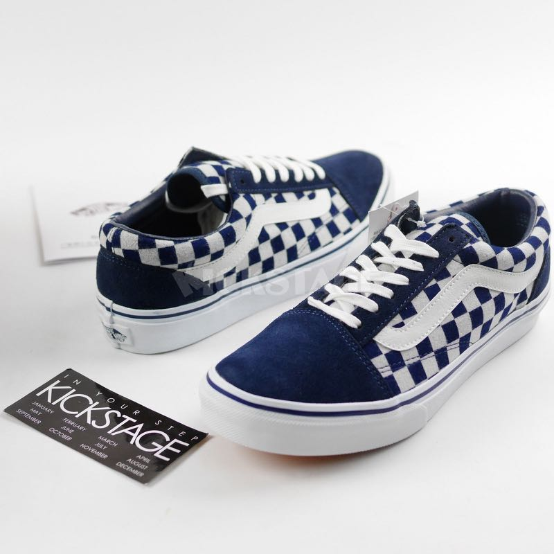 bde01b28f4 Vans Old Skool V36CL Style 36 Japan Indigo Blue Checkerboard