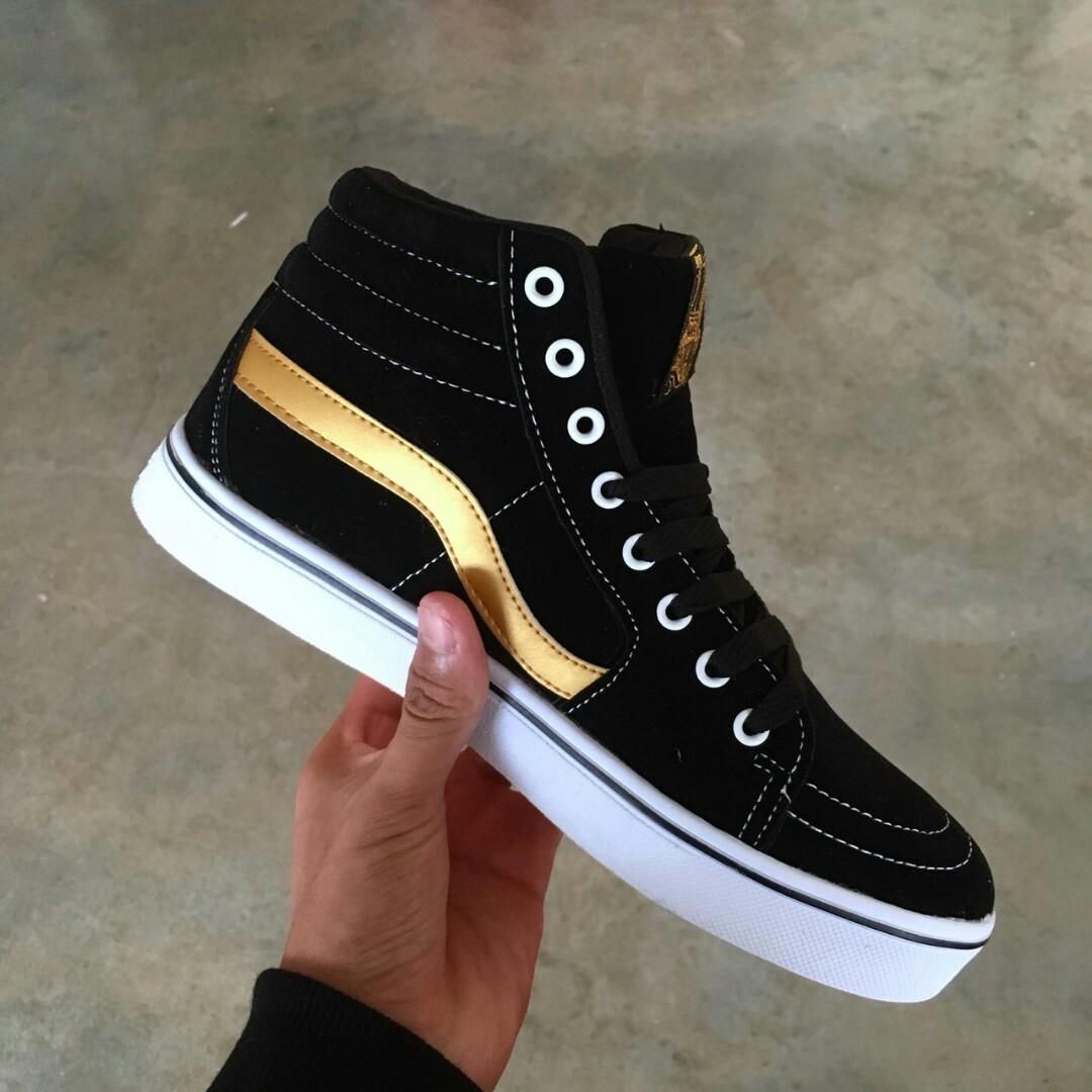 b8e0e6ba7a0 Vans Oldskool Tnt Highcut Black Gold