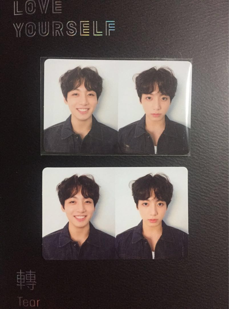 wts bts love yourself r version with jungkook photocard 1529994139 bcea3e2c