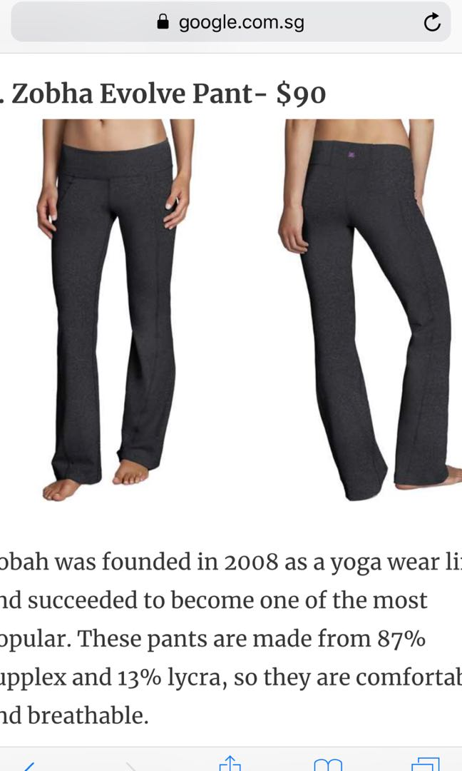 45fd991916d87 Zobha 2 bnwt evolve pants in black yoga or travel, Sports, Sports ...