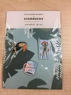 🚚 The Paper Bumny for Starbucks Enamel Summer Pins