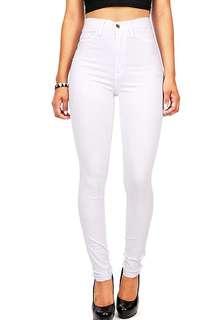 White high waist pant