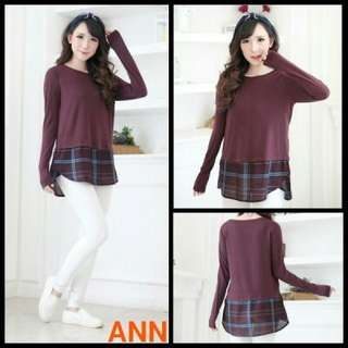 Blouse Ann Layered Plaid