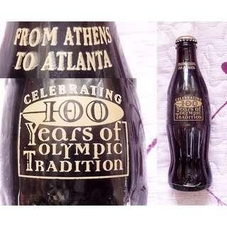 96年美國Celebating 100 Years of Olympic Tradition可口可樂玻璃樽一枝