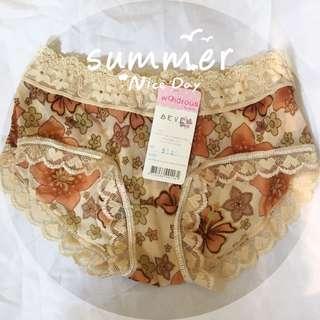 復古薄紗蕾絲低腰內褲1入-香港製造
