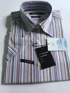 Men's Grey Stripes Polo Daniel Hechter Cotton Brand New