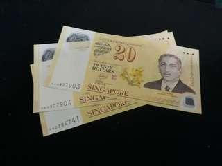 $20 note 3pcs