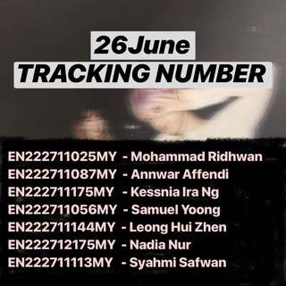 26/6 TRACKING NUMBER