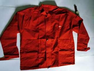 Red Jacket has dark stains