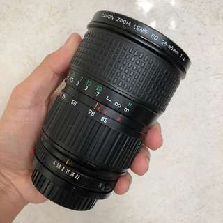 Canon 28-85mm f4 zoom lens