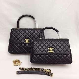 Chanel Coco Top Handle in Lambskin GHW & SHW